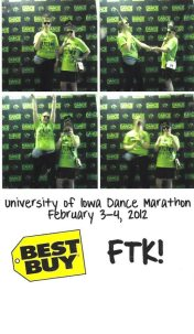 2. Posing for dance marathon with amigas.